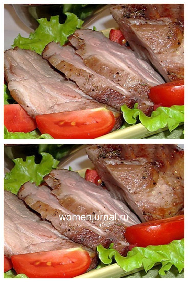 Мясо запеченное целым куском в специях
