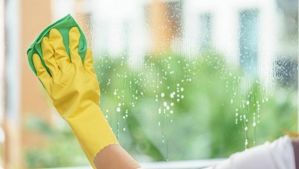 ob-glasreiniger-oder-spuelmittel-tragen-sie-beim-fenster-putzen-handschuhe-um-ihre-haende-vor-dem-austrocknen-zu-schuetzen-7445239